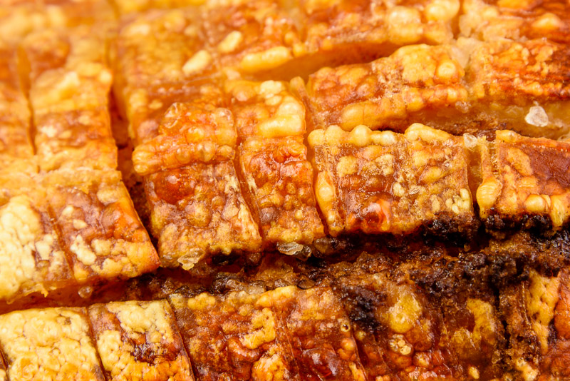 Pork belly crackling
