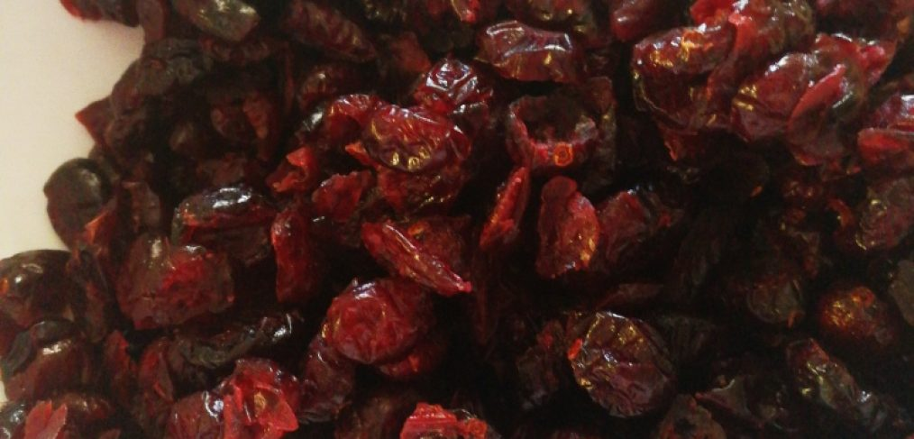 dried cranberries for the cranberry sauce recipe